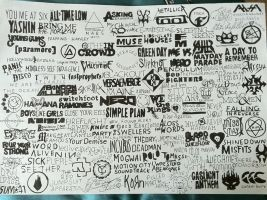 modern rock band logo drawing by under-the-horizon
