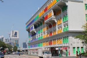 Colorful Building by SweeneyT-DemonBarber