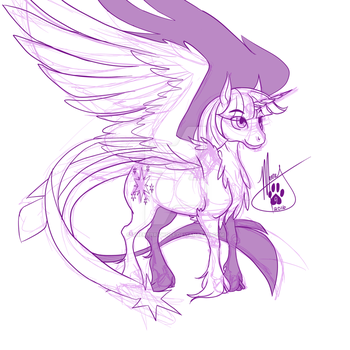 Twilight Doodle by TheMerryWolf