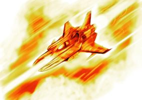 Speed Painting Vic Viper Mk II by leomon32