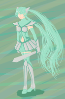 Vocaloid: Warrior Miku by offensivebehavior
