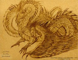 Enrosia Concept Art: Dragon by Mytherea