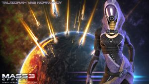 Mass Effect Wallpaper - Tali'Zorah by razor-rebus