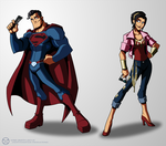 Man of Grease - Superman and Wonder Woman by KrisSmithDW