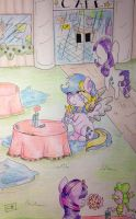Commission: At the cafe by Cloudy-03