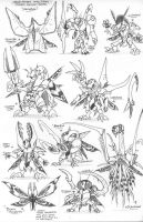 PR Wing Slayers monsters by Kainsword-Kaijin