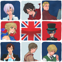 Favorite British Characters by kaiseiyuubi