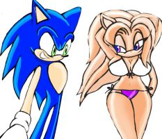 Sonic Meets Angelica by Cystal-The-Wolf