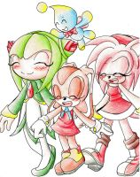 Sonic X girls by kagomeamichun