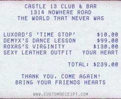 A Typical Receipt by cross-x-player
