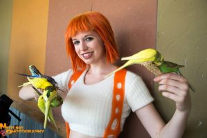 Leeloo and the Birds by EveilleCosplay