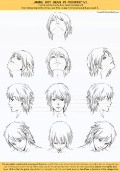Anime Head Angles Perspective by Lairam