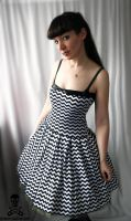 zigzag swing dress by smarmy-clothes
