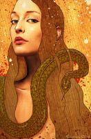 Eve and the Serpent by enchantedgal