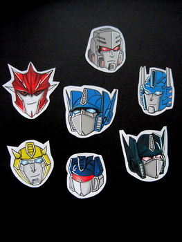 Transformers stickers by SolidStateScouter