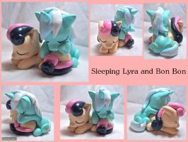 Lyra and Bon Bon Sculpt by CadmiumCrab