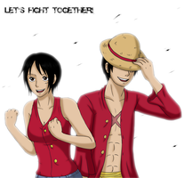 Let's fight together by Kaschra