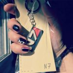 My nail N7 art plus N7 key chains =] by Shaya-Fury