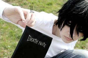 Death Note: L and the note by SCHIZOPHRENIC-ALICE