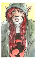 Felicity in a Hoodie Watercolor... by ssava