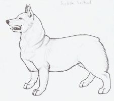 Swedish Vallhund Lineart by wolfforce58