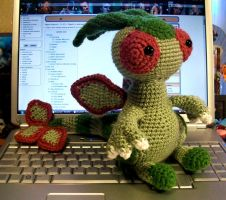 Flygon Crochet Plush by First-Mate-Kate