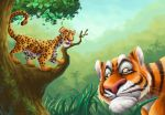 Tiger and Leopard illus. 2 by kuyakoyboy