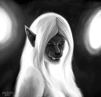 Draw a Werewolf Day - Wyfwolf by Viergacht