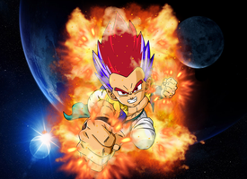 Super Saiyan God Gotenks (Child) by EliteSaiyanWarrior