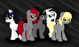 Avenged Sevenfold as ponies by Ollis100