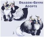 Arctic Dragon-gryps - {CLOSED} by Blackraven-Adopts