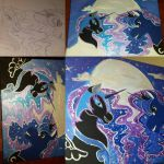 Luna and Nightmare Moon process by chiisuchii