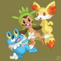 New Starters 6th Gen by SwanLullaby