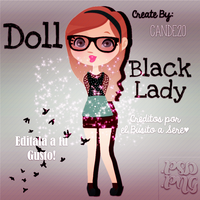 Doll Black Lady CANDE20 by Cande20