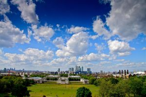 Canary Wharf from Greenwich by yalsaibie