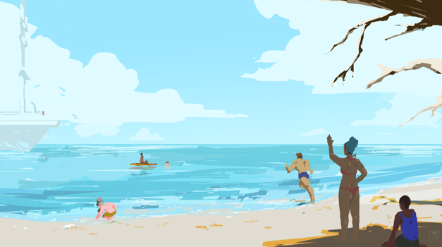 The Beach by LittleSweetie