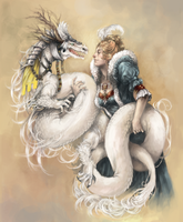 A Lady and her Dragon by InsaneLunacy