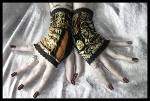 Steam Velvet Fingerless Gloves by ZenAndCoffee