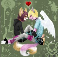 Angel and Khaos by FunkyCandyCat