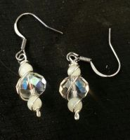 snow droplets earrings by Darla-Illara