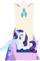 Rarity Polishing Her Throne by ThePoneSenpai