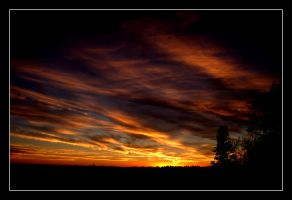 Sunset in edmonton by reilly