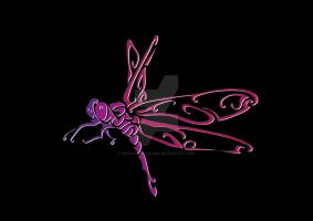 dragonfly neon by mel-an-choly