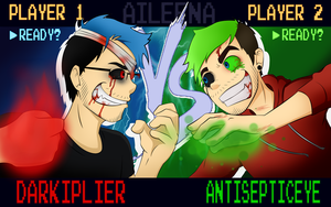 DARKIPLIER VS ANTISEPTICEYE | Youtube Gamming 1 by xOtakuStarx
