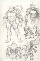 Ninja turtles sketches by c-crain