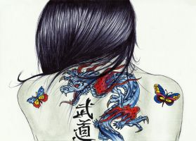 The Girl With The Chinese Dragon Tattoo by carldraw
