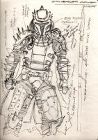 Mando crusader sketch 1 by redroyalguard