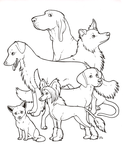 Dogs! colouring page by novablue