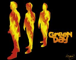 Green Day 'fire' wallpaper by PoisonHeart555