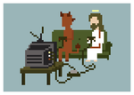 Jesus And Devil Play Video Games by ObinSun